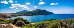 Alghero coast, Provincia di Sassari, Sardegna, Italy - sunny day.