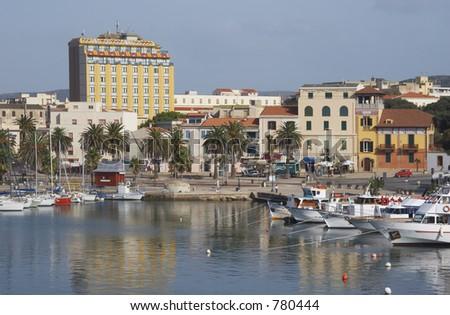 Alghero harbour, Sardinia, Italy