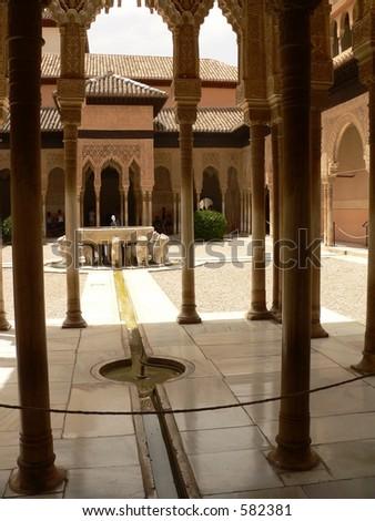 Alhambra lion (Nazarie) palace (Granada, Spain).