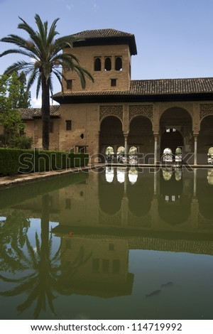 Alhambra Pool Reflection
