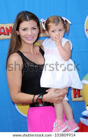 Ali Landry and daughter Estela at the Los Angeles Premiere of \'Handy Manny Motorcycle Adventure\'. Arclight Hollywood, Hollywood, CA. 09-26-09