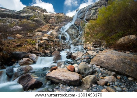 Alibeksky falls. Alibeksky gorge. Teberdinsky reserve. Dombai. Karachay-Cherkessia #1301453170