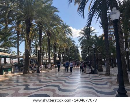 Alicante Bulwar. Great place to take a walk. Zdjęcia stock ©