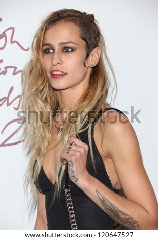 Alice Dellal arriving for The British Fashion Awards 2012 held at The Savoy, London. 27/11/2012 Picture by: Henry Harris