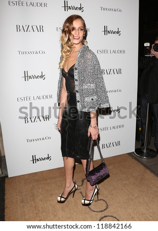 Alice Dellal arriving for the Harper's Bazaar Women of the Year Awards 2012 at Claridge's Hotel, London. 31/10/2012 Picture by: Henry Harris - stock photo