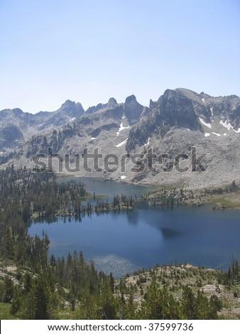 Alice Lake in the Idaho Sawtooth Mountain range