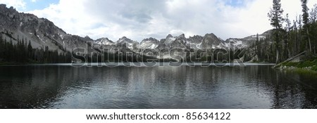 Alice Lake in the Sawtooth Wilderness in Idaho