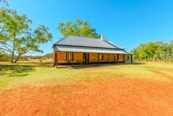 Alice Springs telegraph station. A historic landmark in Alice Springs, Northern Territory, Central Australia. Outback Red Center desert.