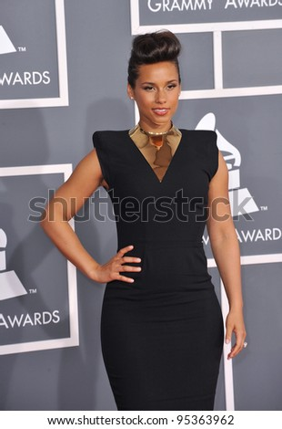 Alicia Keys at the 54th Annual Grammy Awards at the Staples Centre, Los Angeles. February 12, 2012  Los Angeles, CA Picture: Paul Smith / Featureflash