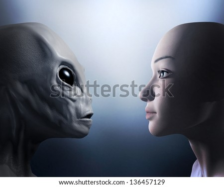 alien and human