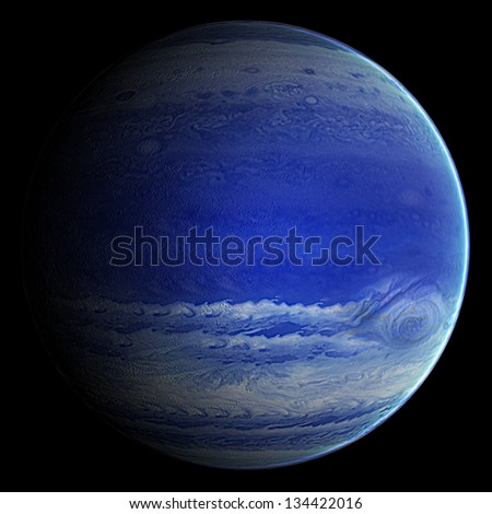 Alien Blue Gas Exo Planet