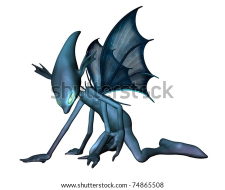 Alien creepy crawly insect creature, 3d digitally rendered illustration