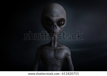 alien; 3d illustration