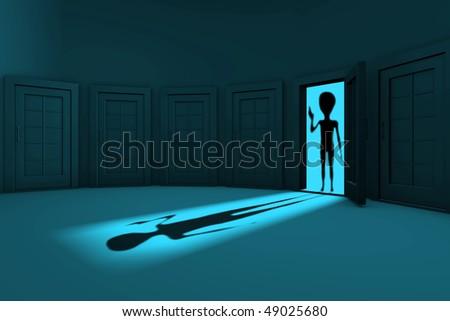 alien in the door welcomed humanity