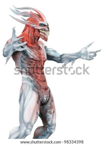 alien monster in come here