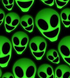 alien neon seamless pattern fashion