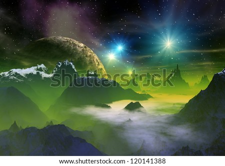 Alien Planet Computer Artwork