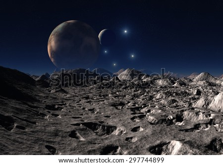 Alien Planet 3D Rendered Landscape