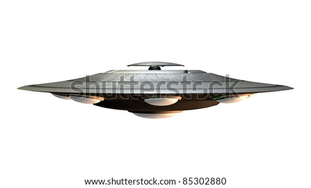 Alien Spacecraft Computer generated 3D illustration