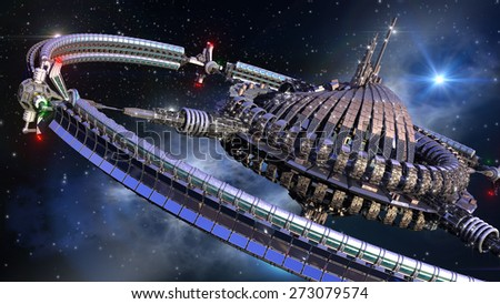 stock-photo-alien-spaceship-with-central-dome-and-gravitation-wheel-in-interstellar-deep-space-travel-273079574.jpg