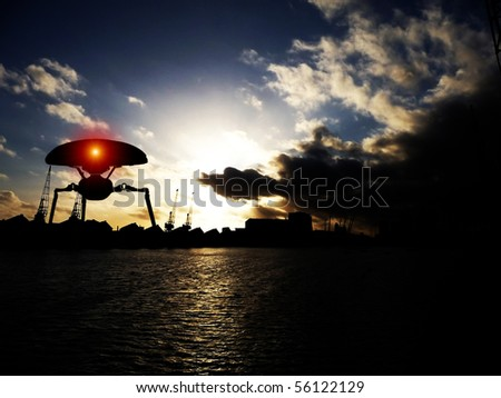 Alien tripods in Londons Docklands.