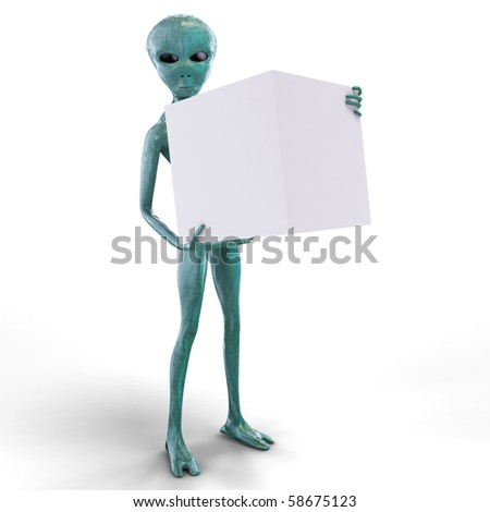 Alien with the  box