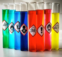 Aligned Chemical Danger pictograms - Toxic