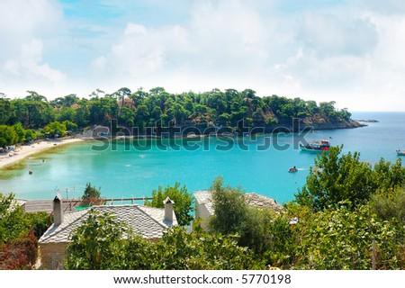 alikes beach thassos island greece