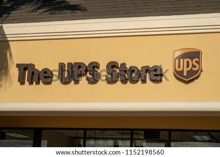 Aliso Viejo, CA / USA - 08/08/2018: UPS Store #1152198560