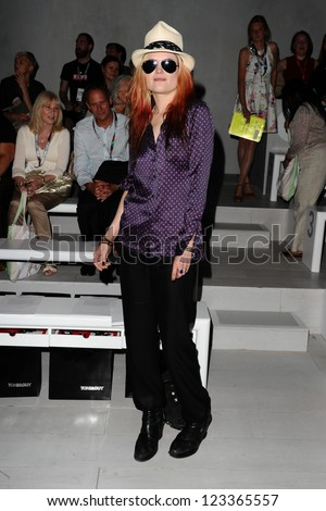 Alison Mosshart at the Todd Lynn catwalk show as part of London Fashion Week SS13, Somerset House, London. 15/09/2012 Picture by: Steve Vas