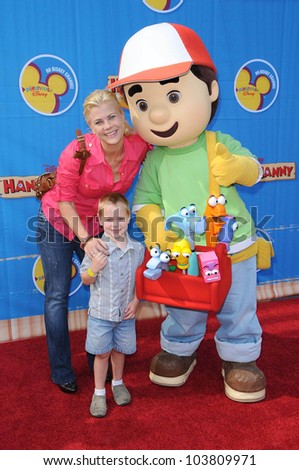 Alison Sweeney and family  at the Los Angeles Premiere of \'Handy Manny Motorcycle Adventure\'. Arclight Hollywood, Hollywood, CA. 09-26-09