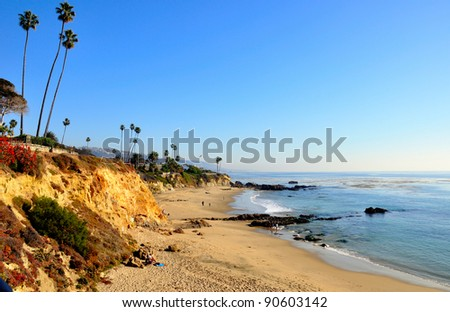 Alito Park Bluffs and Beach, Laguna Beach, California, USA