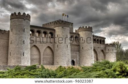 Aljaferia castle, Zaragoza, Spain.