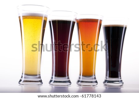 all colors of beer