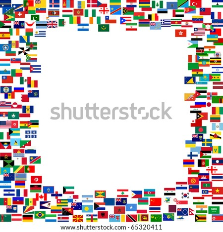 All flags frame
