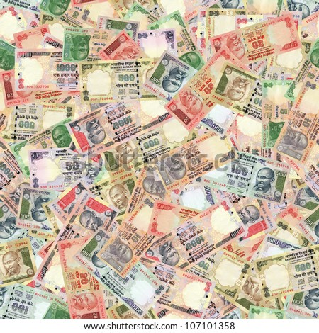 All indian banknotes high resolution seamless texture/Indian money seamless texture