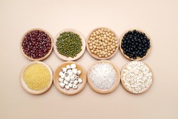 All kinds of grain, red beans, black beans, soybeans, mung beans, rice and so on