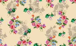 All over Digital Seamless Pattern