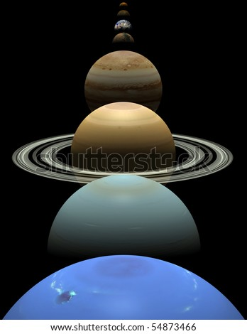 Images Of 8 Planets. stock photo : All 8 planets