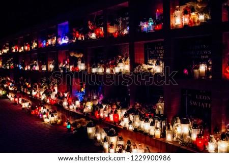 All Saints' Day - 1st November Poland Zdjęcia stock ©