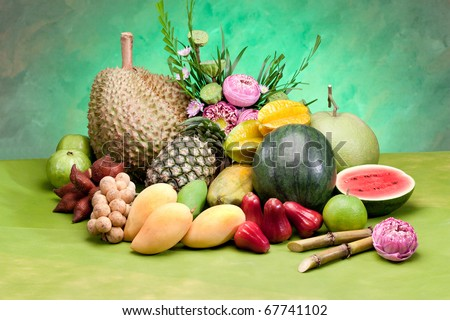 All season Thailand tropical fruits