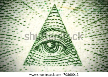 all seeing eye from a 1 dollar bill
