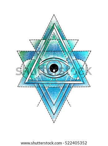 Royalty Free All Seeing Eye In Delta Triangle Symbol 522405358