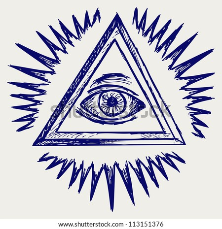 All seeing eye. Raster version