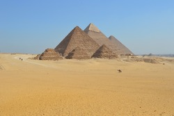 All so quiet at the Giza Plateau taking in the stunning ancient pyramids of Giza.