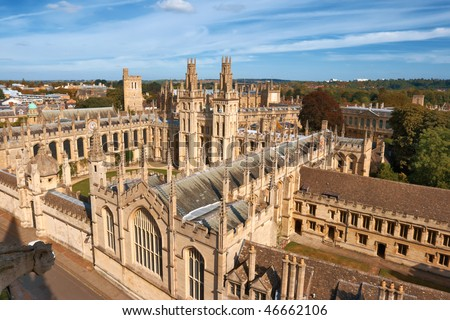 All Souls College, Oxford University. Oxford, UK