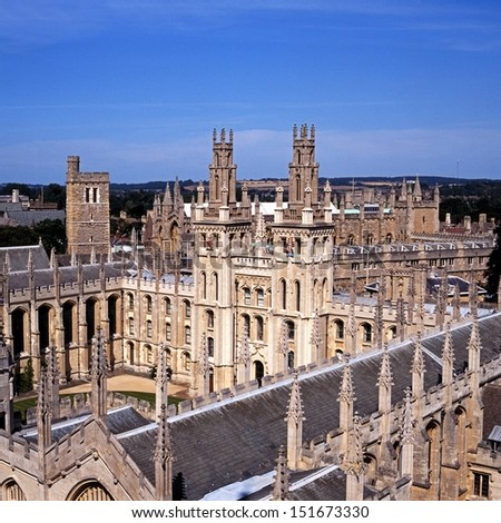All Souls College (The Warden and the College of the Souls of all Faithful People deceased in the University of Oxford), Oxford, Oxfordshire, England, United Kingdom, Western Europe.
