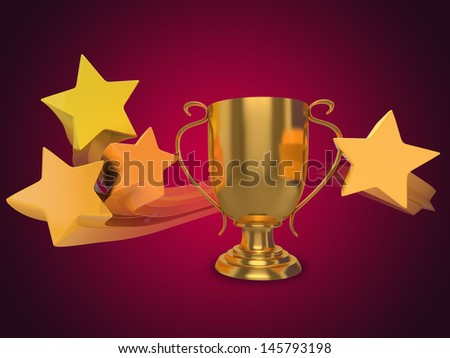 All-Star gold trophy with golden stars