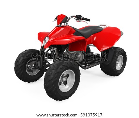 All-Terrain Vehicle Isolated. 3D rendering Stock photo ©