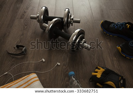 All the necessary equipment for fitness #333682751
